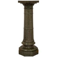 French 19th Century Louis XVI St. Vert De Patricia Marble Pedestal Column