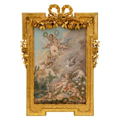 French 19th Century Louis XVI St. Watercolor Painting
