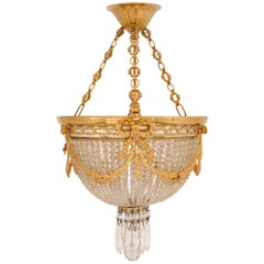 French 19th Century Louis XVI Style Baccarat Crystal Chandelier