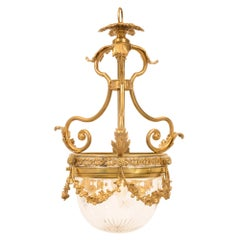 French 19th Century Louis XVI Style Belle Époque Ormolu and Crystal Chandelier