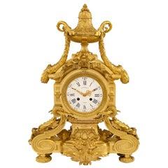 French 19th Century Louis XVI Style Belle Époque Period Ormolu Clock