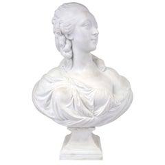 French 19th Century Louis XVI Style Biscuit de Sevres Porcelain Bust