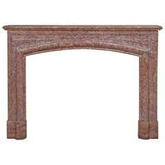 French 19th Century Louis XVI Style Brocatelle D'Espagne Marble Mantle