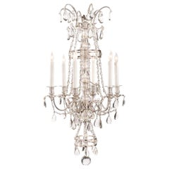 French 19th Century Louis XVI Style Bronze and Baccarat Crystal Chandelier