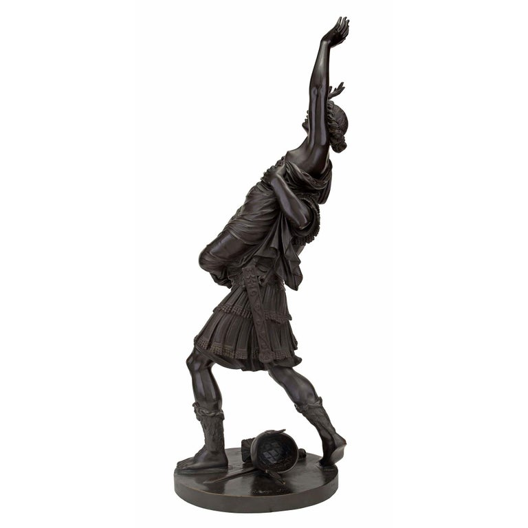 French 19th Century Louis XVI Style Bronze Statue of L'Enlevement des Sabines In Good Condition For Sale In West Palm Beach, FL