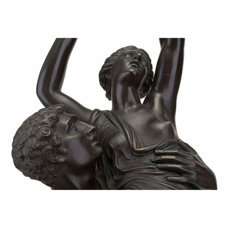 French 19th Century Louis XVI Style Bronze Statue of L'Enlevement des Sabines For Sale 1