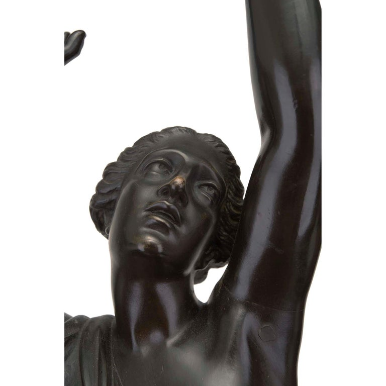 French 19th Century Louis XVI Style Bronze Statue of L'Enlevement des Sabines For Sale 2