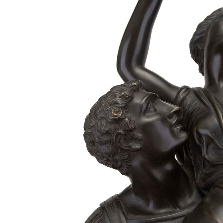 French 19th Century Louis XVI Style Bronze Statue of L'Enlevement des Sabines For Sale 3