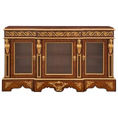 French 19th Century Louis XVI Style Buffet Vitrine