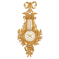 French 19th Century Louis XVI Style Cartel Clock, Signed Le Masurier, Paris