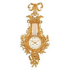 French 19th Century Louis XVI Style Cartel Clock, Signed Le Masurier Paris
