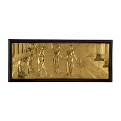 French 19th Century Louis XVI Style Carved Giltwood Wall Plaque