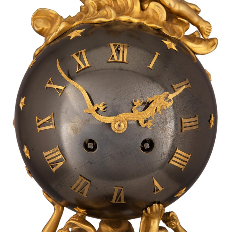 French 19th Century Louis XVI Style Clock, Stamped Vincent, 1855 For Sale 1