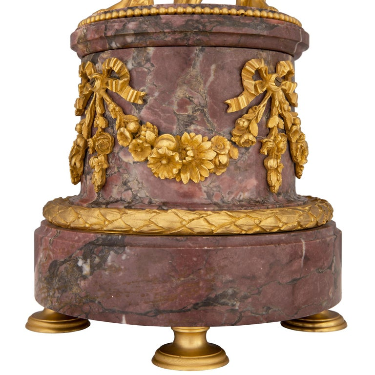 French 19th Century Louis XVI Style Clock, Stamped Vincent, 1855 For Sale 4
