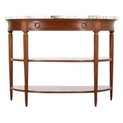 French 19th Century Louis XVI-Style Demilune Server
