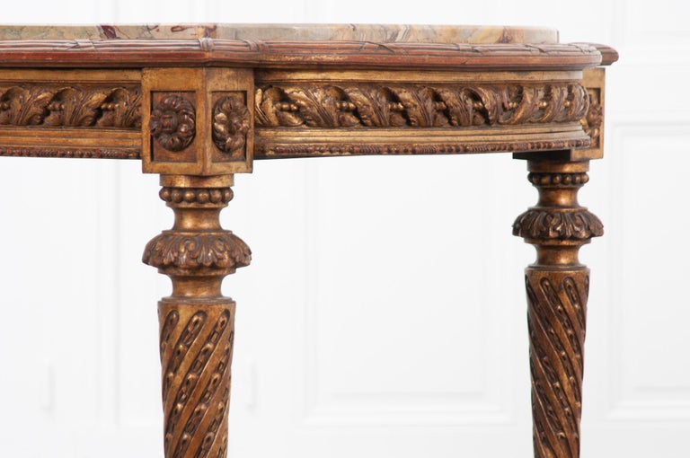 French 19th Century Louis XVI, Style Giltwood Center Table For Sale 7