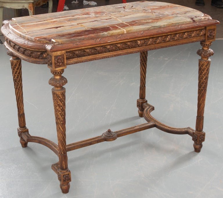 French 19th Century Louis XVI, Style Giltwood Center Table For Sale 10