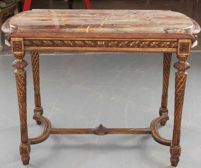 French 19th Century Louis XVI, Style Giltwood Center Table For Sale 11