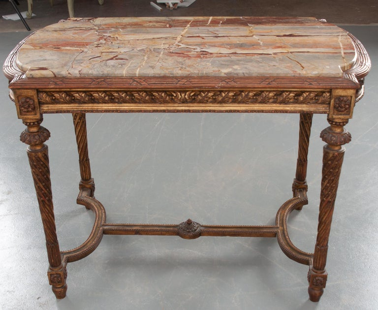 French 19th Century Louis XVI, Style Giltwood Center Table For Sale 3