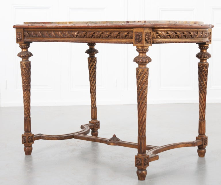 French 19th Century Louis XVI, Style Giltwood Center Table For Sale 6