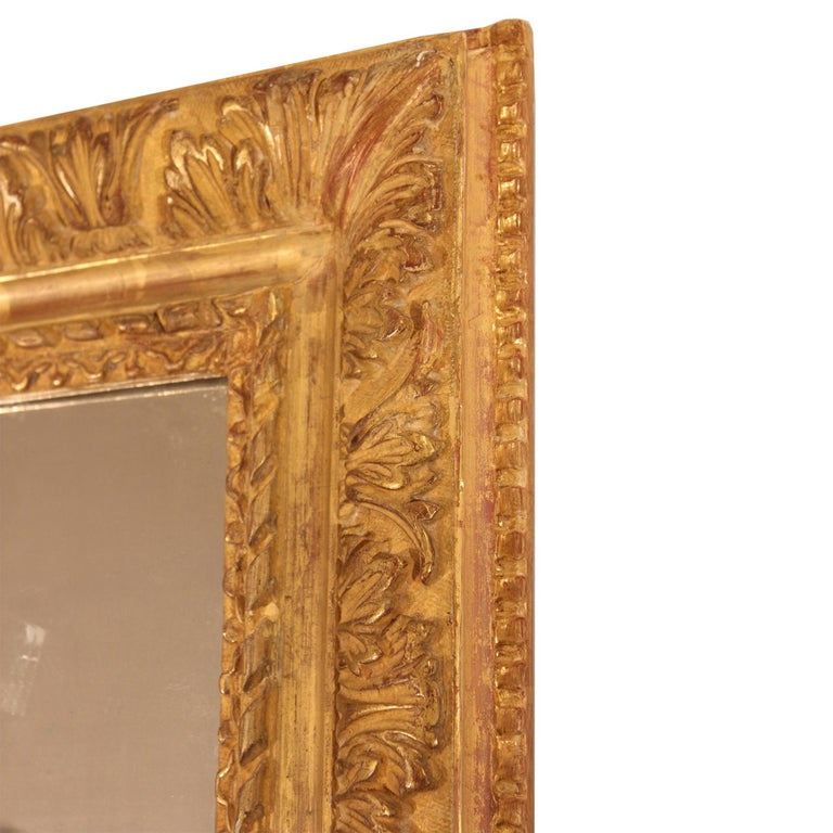 French 19th Century Louis XVI Style Giltwood Mirror For Sale 2