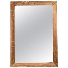 French 19th Century Louis XVI-Style Giltwood Mirror