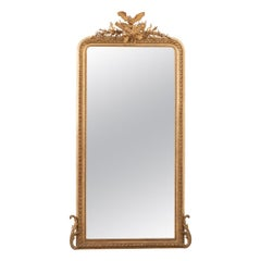 French 19th Century Louis XVI-Style Giltwood Mirror