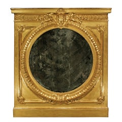 French 19th Century Louis XVI Style Giltwood Trumeau