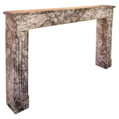 French 19th Century Louis XVI Style 'Gris St. Anne' Marble Mantel