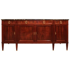 French 19th Century Louis XVI Style Mahogany and Ebony Buffet