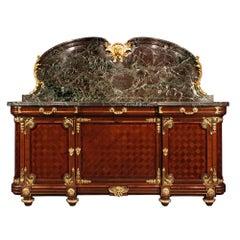 French 19th Century Louis XVI Style Mahogany and Ormolu Buffet