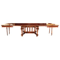 French 19th Century Louis XVI Style Mahogany Dining Table