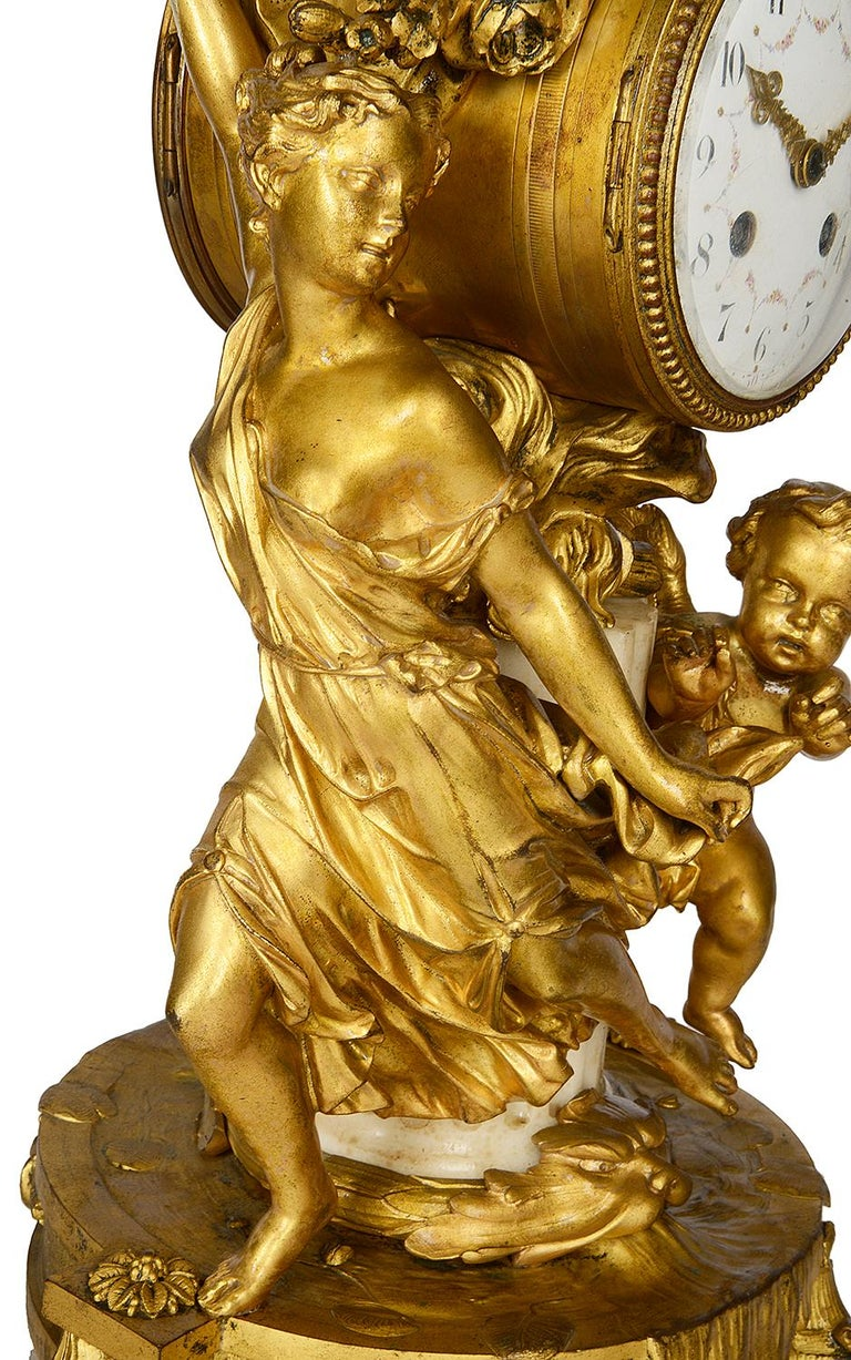 French 19th Century Louis XVI Style Mantel Clock For Sale 1