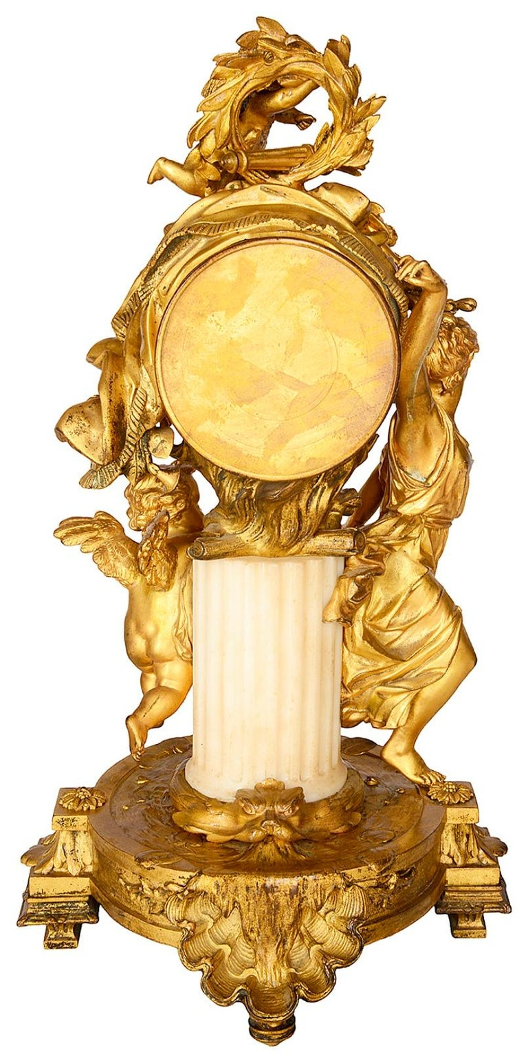French 19th Century Louis XVI Style Mantel Clock For Sale 4
