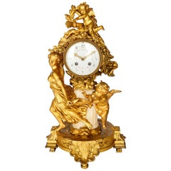 French 19th Century Louis XVI Style Mantel Clock