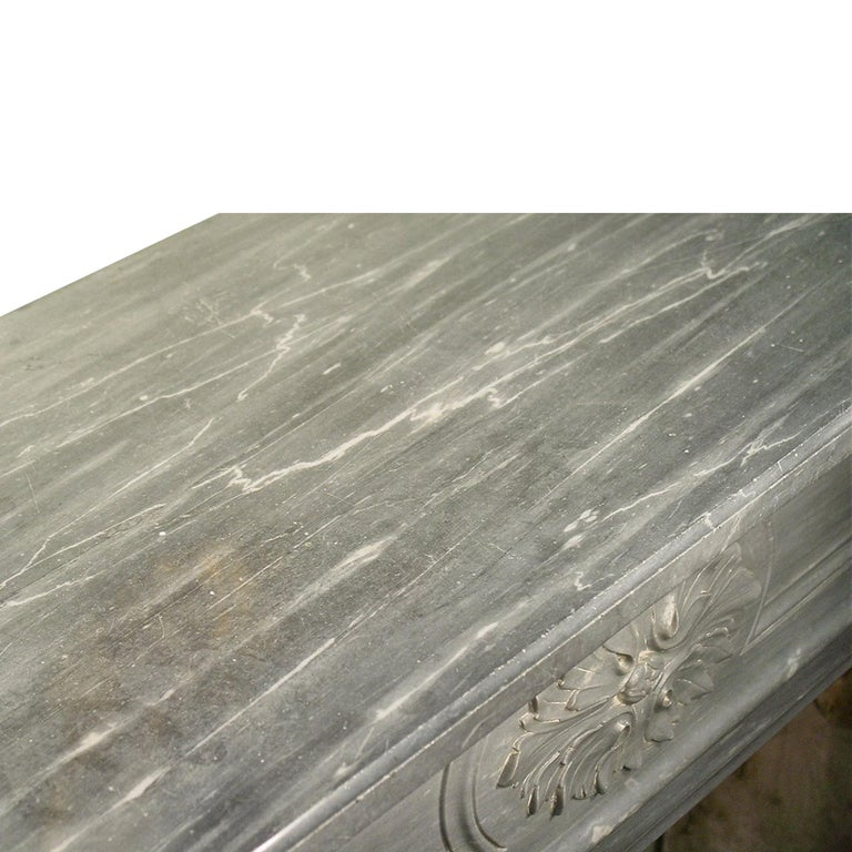 Marble French 19th Century Louis XVI Style Mantle For Sale