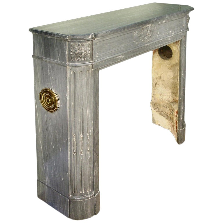 French 19th Century Louis XVI Style Mantle For Sale