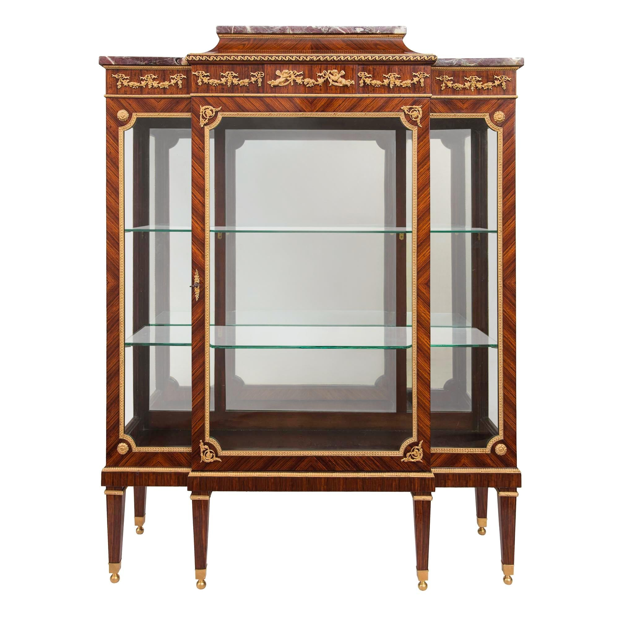French 19th Century Louis XVI Style Mounted Display Cabinet/Vitrine