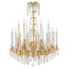 French 19th Century Louis XVI Style Ormolu and Baccarat Crystal Chandelier
