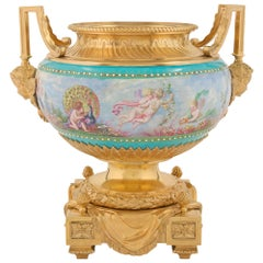 French 19th Century Louis XVI Style Ormolu and Porcelain Centrepiece by Picard