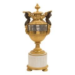 French 19th Century Louis XVI Style Ormolu, Bronze Annular Clock, Signed MARTI