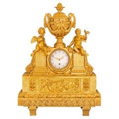 French 19th Century Louis XVI Style Ormolu Clock