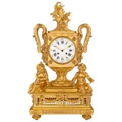 French 19th Century Louis XVI Style Ormolu Clock Signed Cheuret À Marseilles