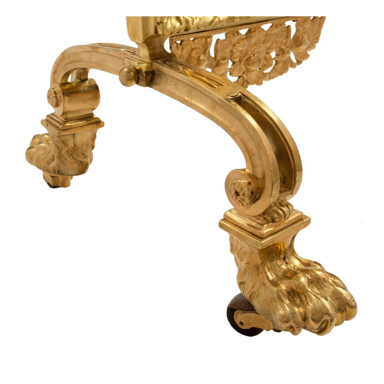 French 19th Century Louis XVI Style Ormolu Fireguard For Sale 3