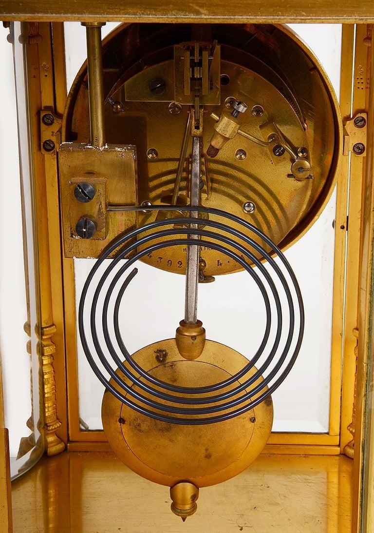 French 19th Century Louis XVI Style Ormolu Mantel Clock For Sale 6