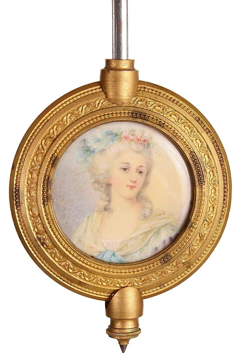 French 19th Century Louis XVI Style Ormolu Mantel Clock For Sale 7