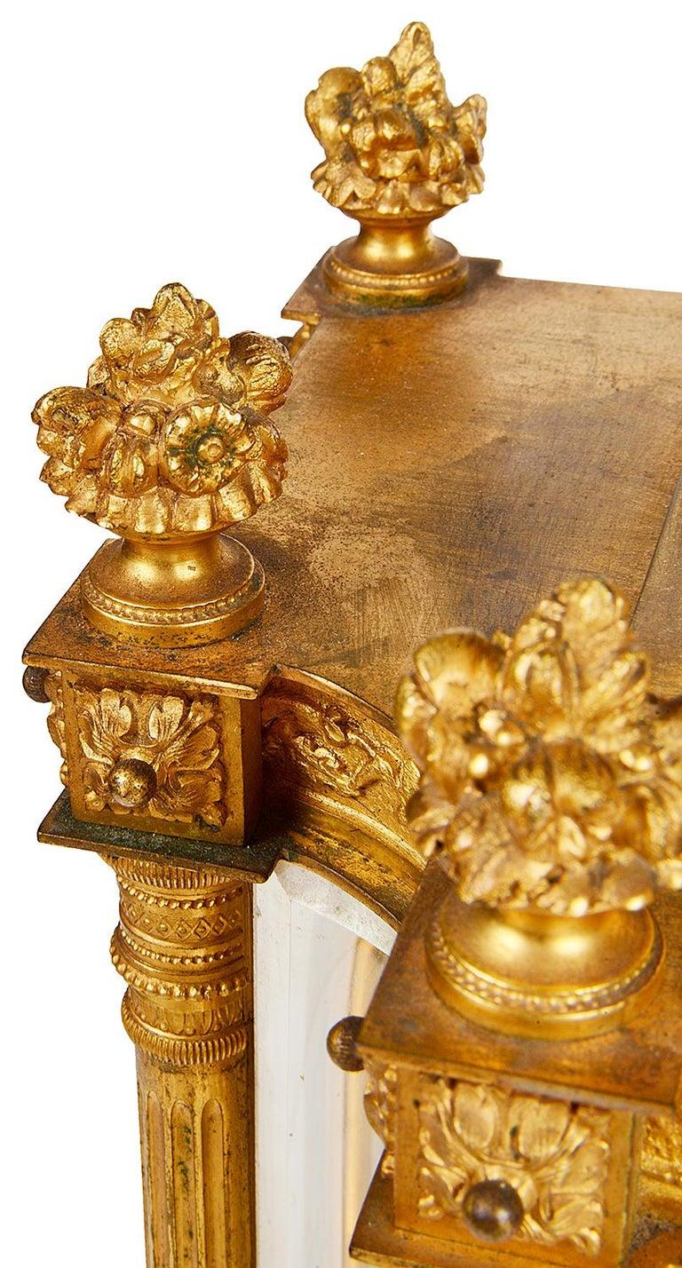 Gilt French 19th Century Louis XVI Style Ormolu Mantel Clock For Sale