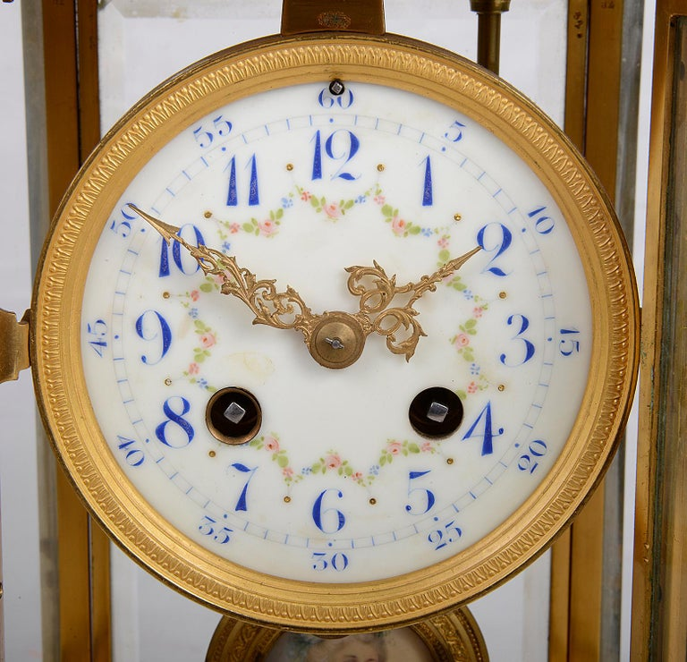 French 19th Century Louis XVI Style Ormolu Mantel Clock In Good Condition For Sale In Brighton, Sussex