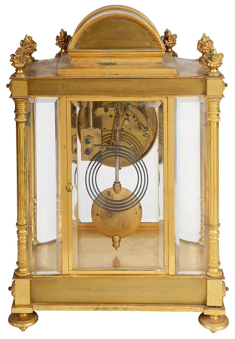 French 19th Century Louis XVI Style Ormolu Mantel Clock For Sale 2