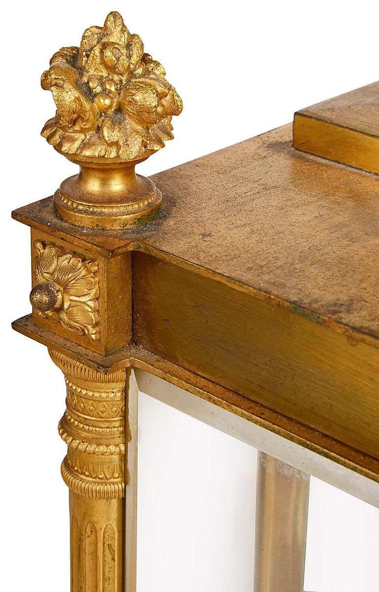 French 19th Century Louis XVI Style Ormolu Mantel Clock For Sale 4